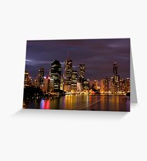 Brisbane City, Australia at night Greeting Card
