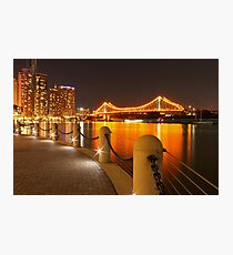 Story Bridge, Brisbane at night Photographic Print