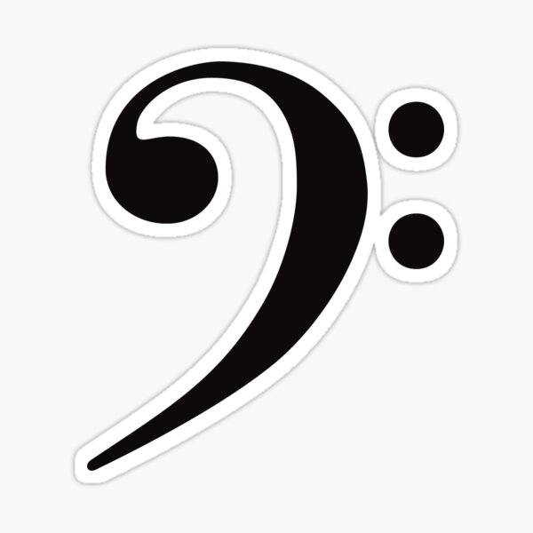 Bass Clef - Black Sticker