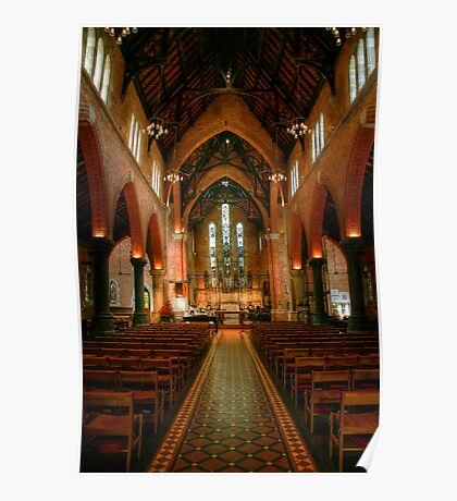 Looking Down the Nave, St George's Cathedral Poster