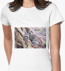 Baby Raccoons Women's Fitted T-Shirt
