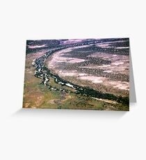 Aerial view of the South Australian Outback 597 Greeting Card