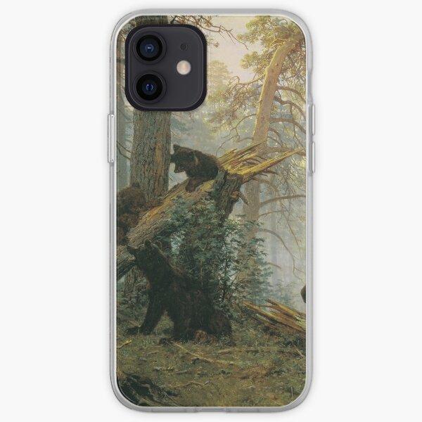 И. И. #Шишкин, К. А. Савицкий. Утро в сосновом лесу. 1889. Холст, масло. 139 × 213 см. Третьяковская галерея, Москва. #IvanShishkin #MorningInAPineForest #MorningInPineForest, iPhone Soft Case