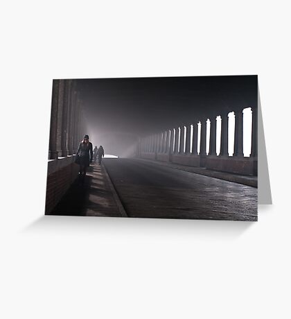 On the bridge Greeting Card