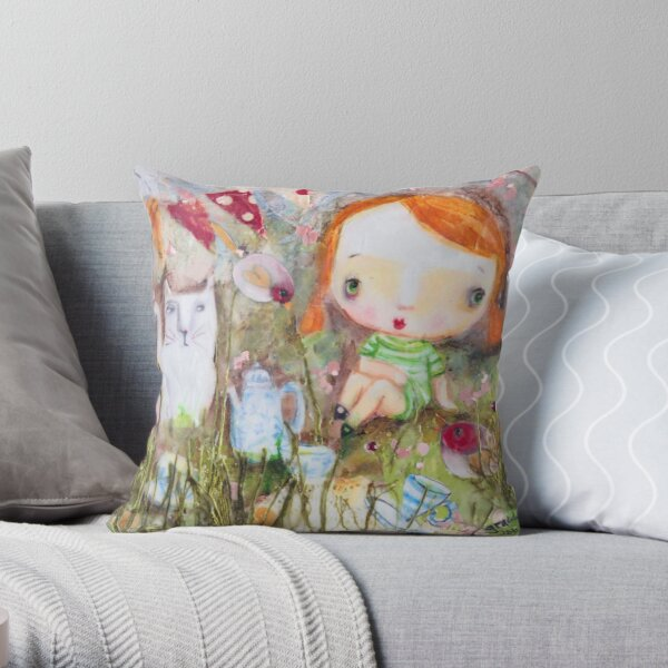 Charlie And Bonnie Throw Pillow