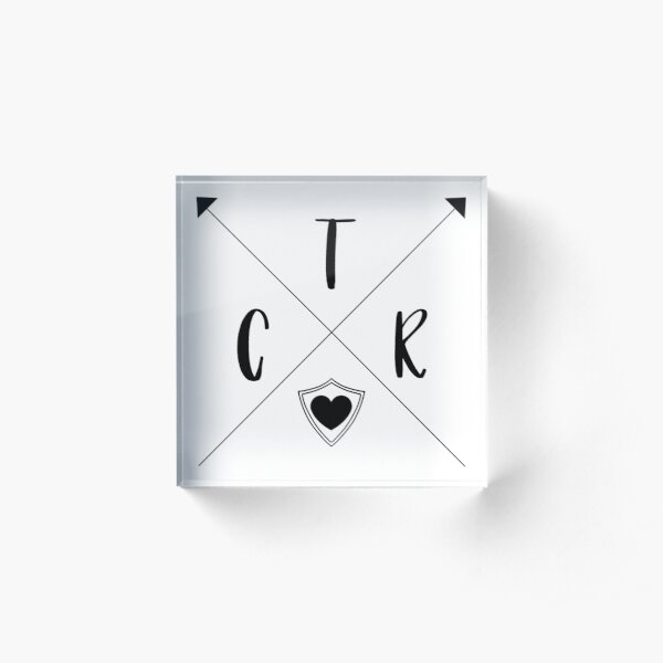 CTR Arrows - Choose The Right - PNG Acrylic Block