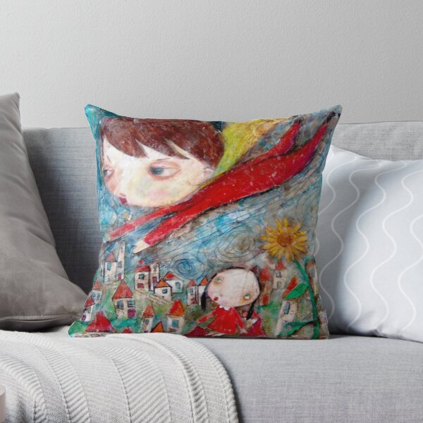 My Brother Can Fly Throw Pillow