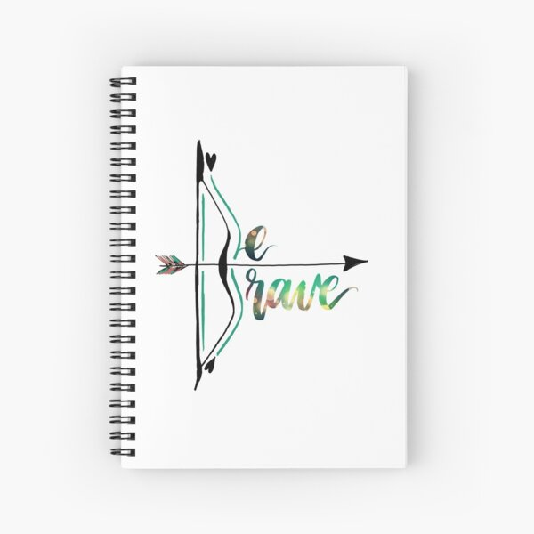 Be Brave With Bow and Arrow Spiral Notebook