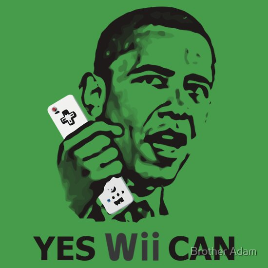 TShirtGifter presents: Yes Wii Can - Barack Obama T-Shirt