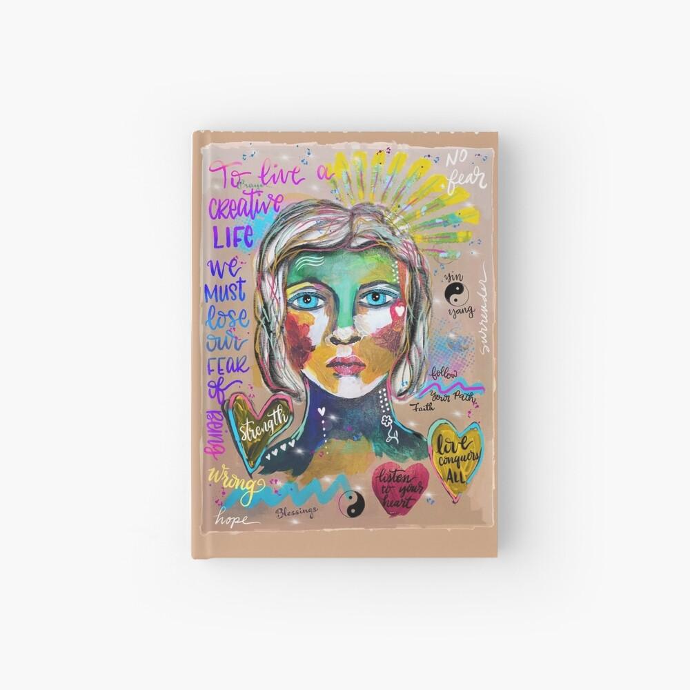 Creative Life Female Colorful Digital Artwork Hardcover Journal