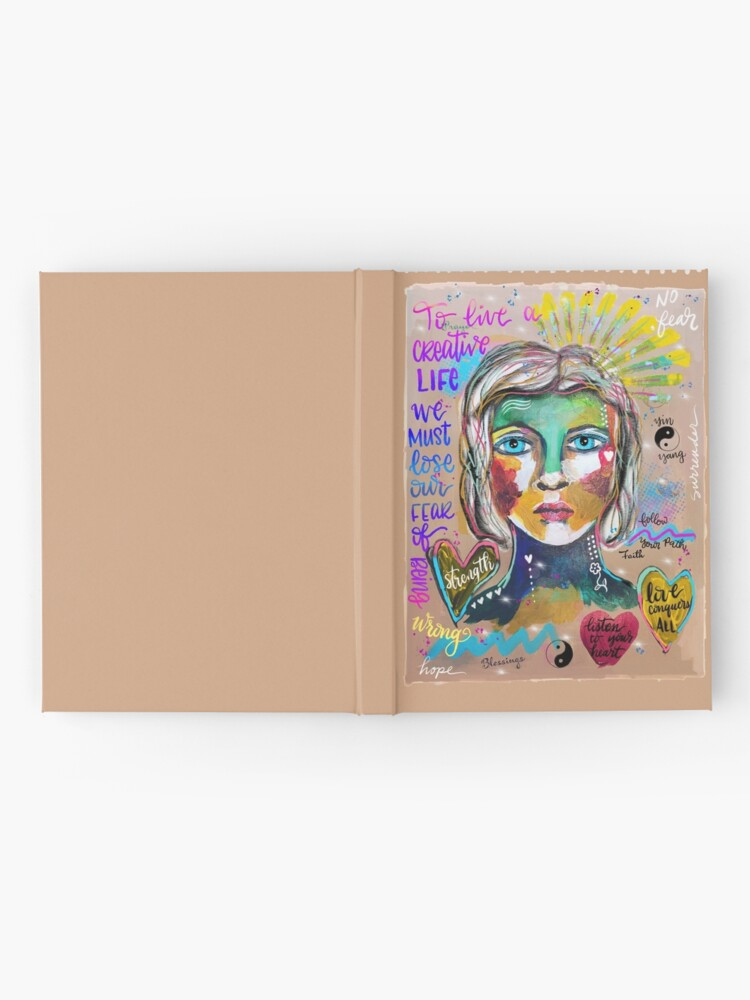 Alternate view of Creative Life Female Colorful Digital Artwork Hardcover Journal