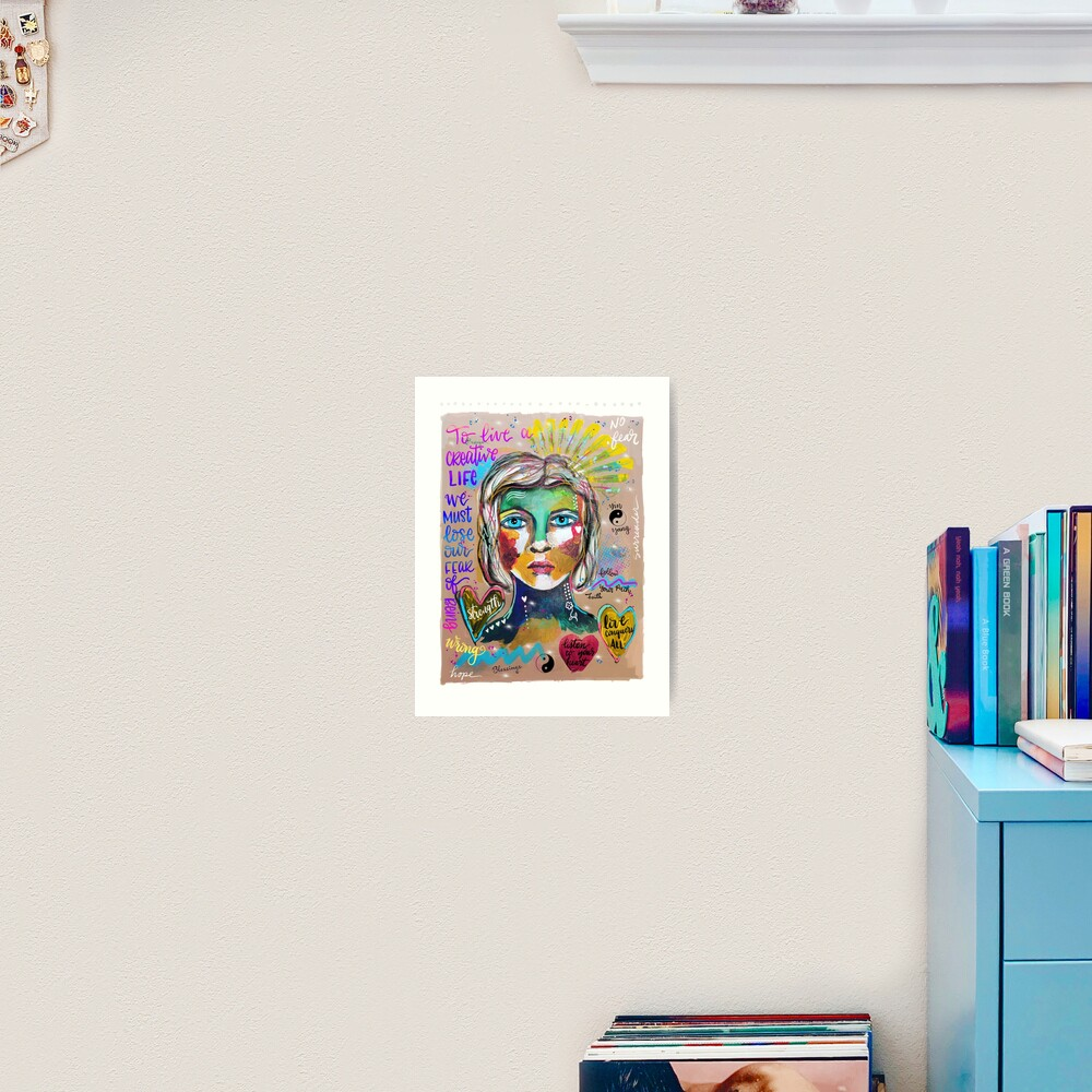 Creative Life Female Colorful Digital Artwork Art Print