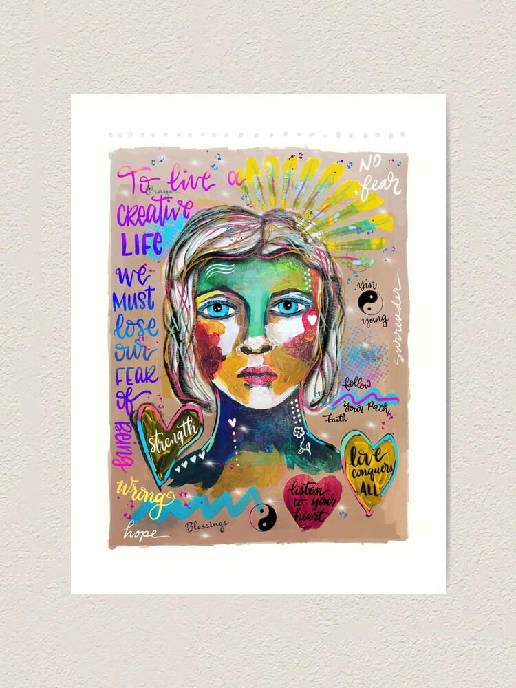Alternate view of Creative Life Female Colorful Digital Artwork Art Print