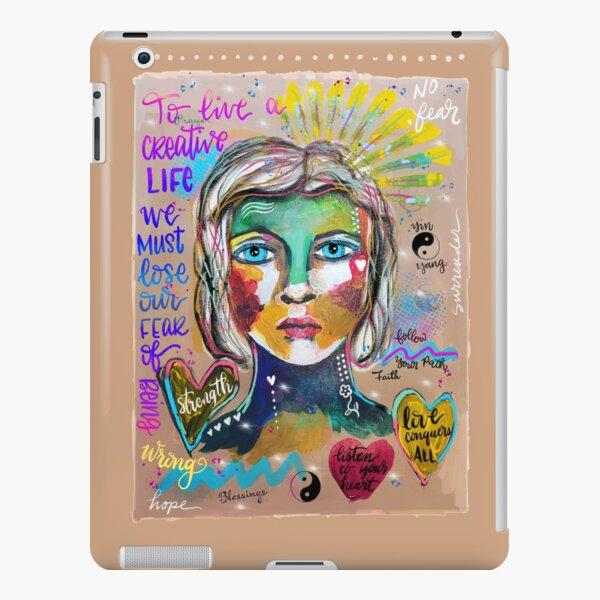 Creative Life Female Colorful Digital Artwork iPad Snap Case