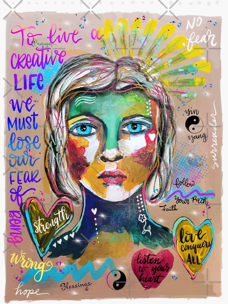 Creative Life Female Colorful Digital Artwork by mydabug