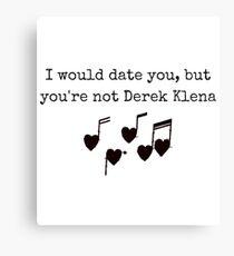 Derek Klena Canvas Print
