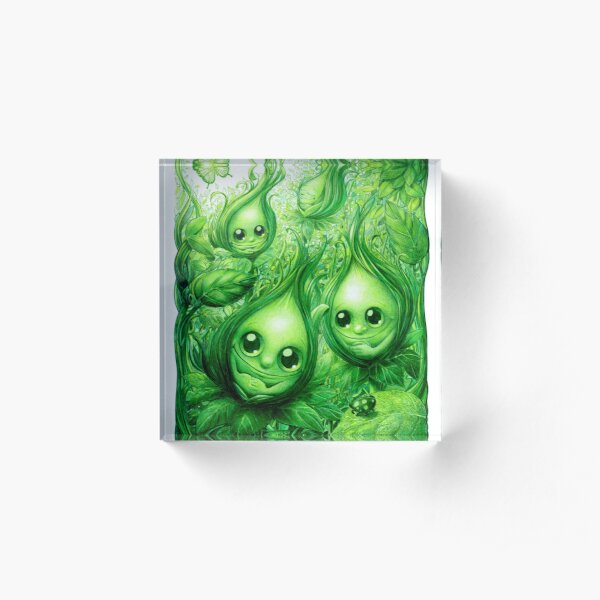 Buds in the Forest Garden Acrylic Block