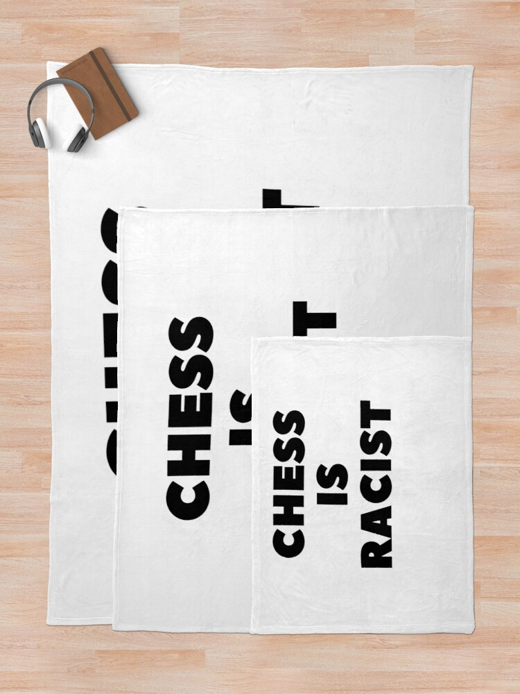 Alternate view of CHESS IS RACIST Throw Blanket