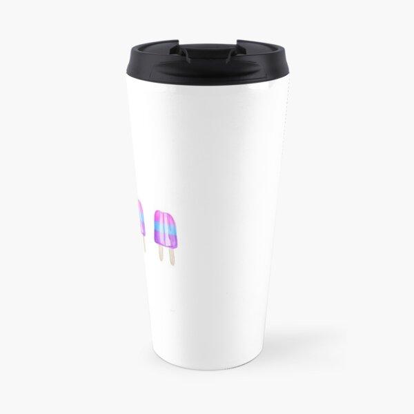 Pink Blue Purple Popsicles Travel Mug