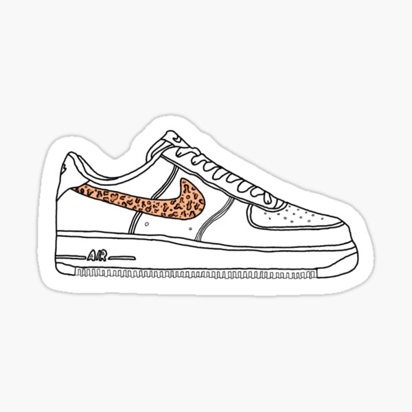 Cheetah Air Force 1 Sticker