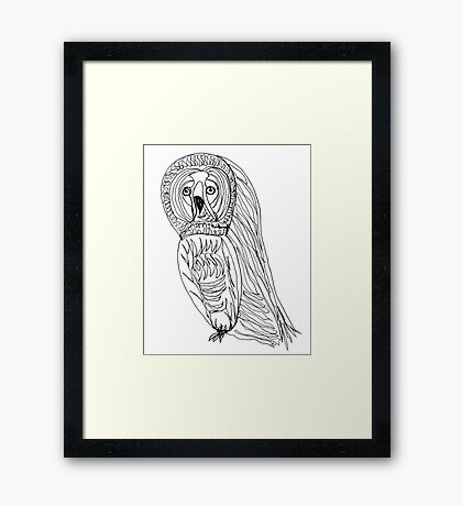 Sir Reginald was a worried little hoot Framed Print
