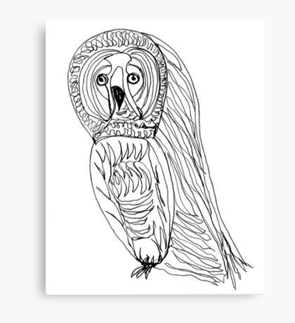Sir Reginald was a worried little hoot Canvas Print