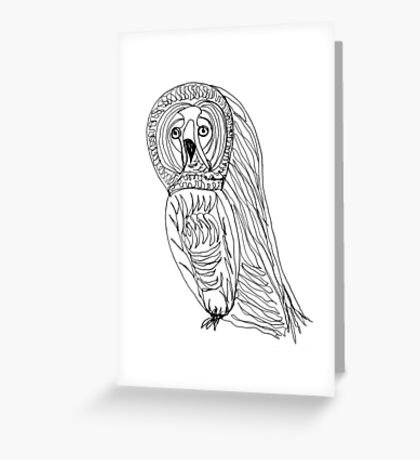 Sir Reginald was a worried little hoot Greeting Card