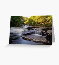 River Dart Cascades Greeting Card