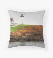 Cape Neddick (Nubble) Lighthouse Throw Pillow