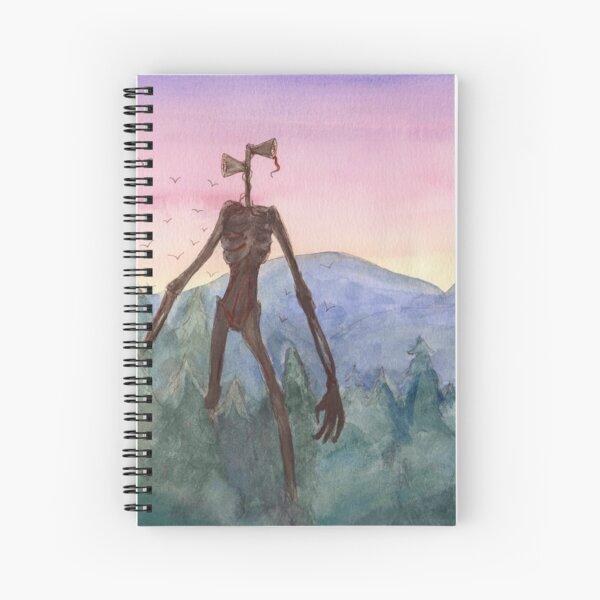 Siren Head Spiral Notebook