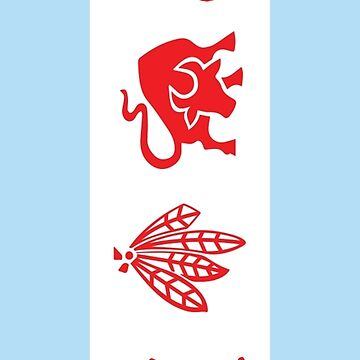 Chicago Flag with Team Logos by kwald12