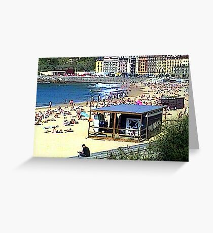 """Beachlife - San Sebastian, Spain"" Greeting Card"