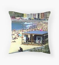 """Beachlife - San Sebastian, Spain"" Throw Pillow"