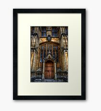 Bodleian Library Door Framed Print
