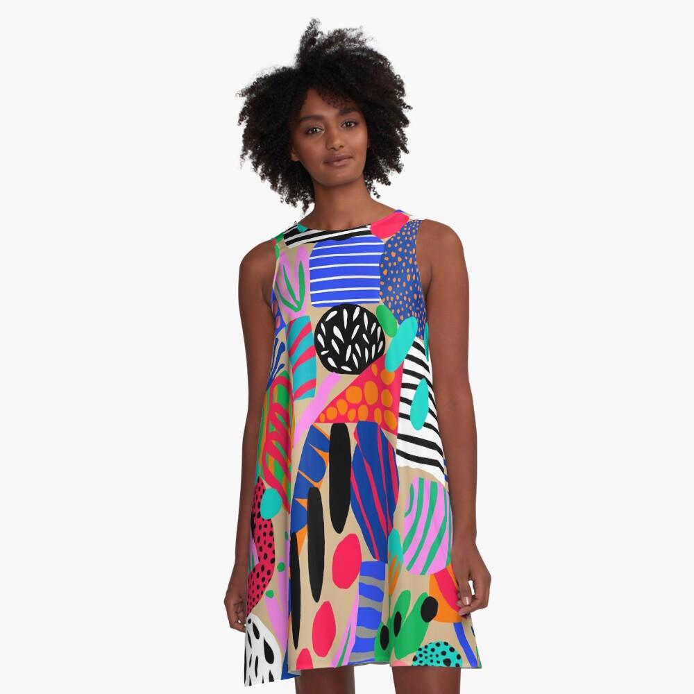 Space Garden A-Line Dress