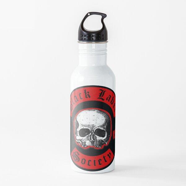 etiqueta negra sociedad banda heavy metal popular Botella de agua