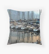 """Sailboats - Fallenbach, Switzerland"" Throw Pillow"