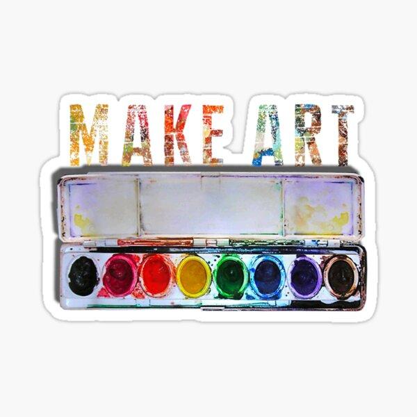 MAKE ART  Funny Artist Painting Teacher Humor gifts Sticker