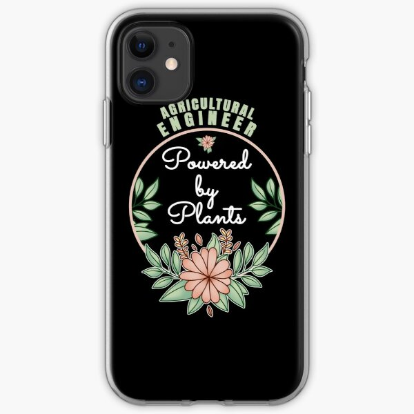 Agricultural Engineer Powered By Plants Lover Design iPhone Soft Case