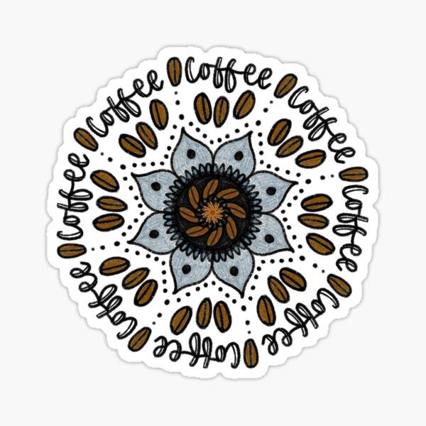 Kaffee Mandala Sticker