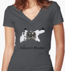 Kingdom of Prussia Women's Fitted V-Neck T-Shirt