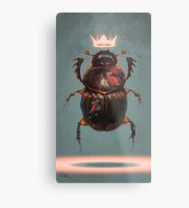Lámina metálica Escarabajo rey