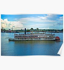 Natchez Riverboat @ New Orleans Poster