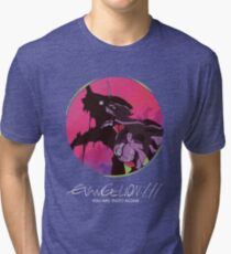 EVA 01 - Evangelion T-shirt / Poster / Phone case / Mug Tri-blend T-Shirt
