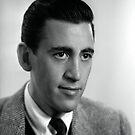 JD Salinger Schwarz-Weiß-Porträt von yungbean