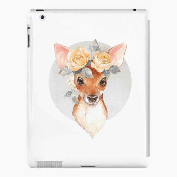 Fawn with yellow roses iPad Snap Case