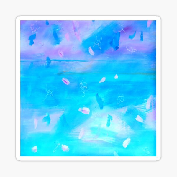Abstract Blue Painting 1 Sticker