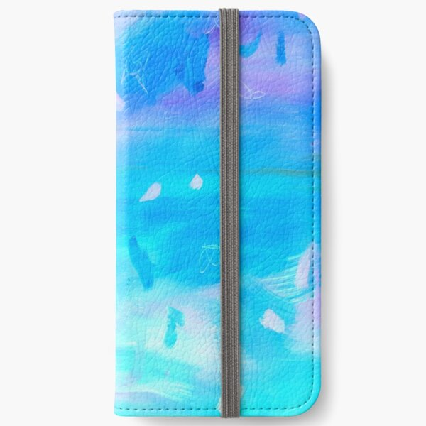 Abstract Blue Painting 1 iPhone Wallet