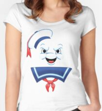 Mr. Marshmallow Destruction Women's Fitted Scoop T-Shirt