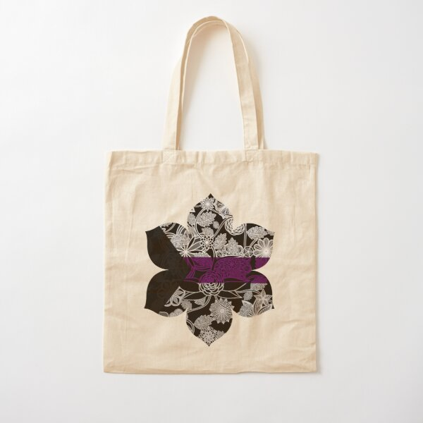 Flight Over Flowers of Fantasy - Demisexual Pride Flag Cotton Tote Bag